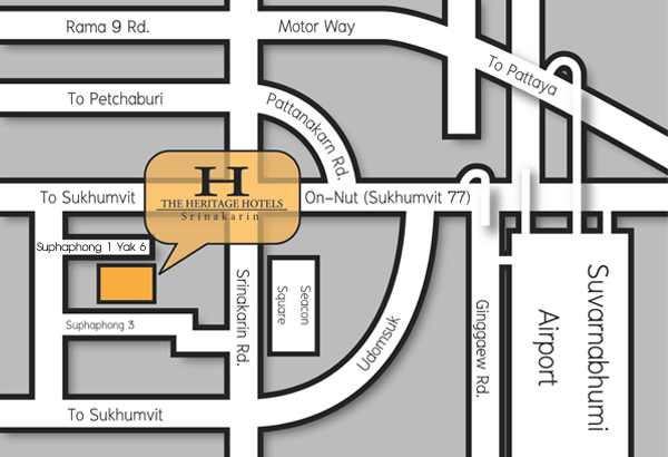 Location Silom and Sathorn Road